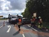 Zwei Männer bei Unfall verletzt