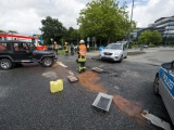 Unfall an der Kreuzung: Zwei Verletzte